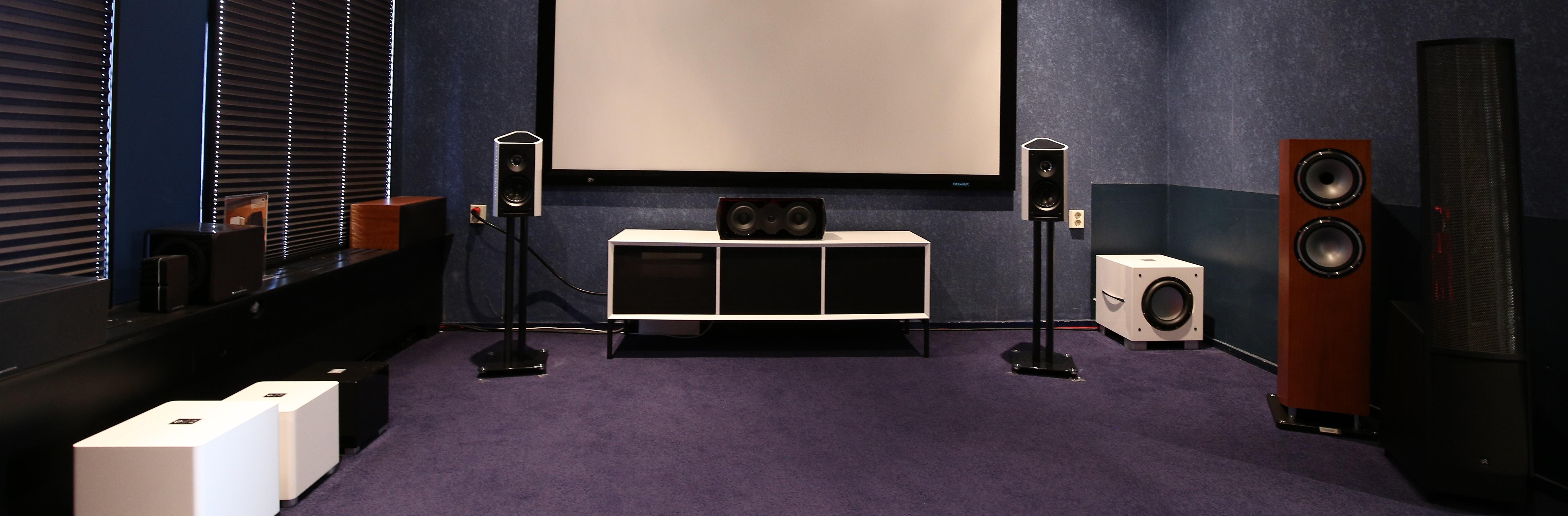 Luisterruimte stereo installaties