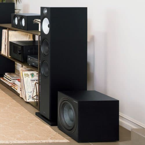 Bowers & Wilkins ASW608 ASW610 Matte Black Actieve Subwoofer 200 Watt Sound Gallery Thumbnail